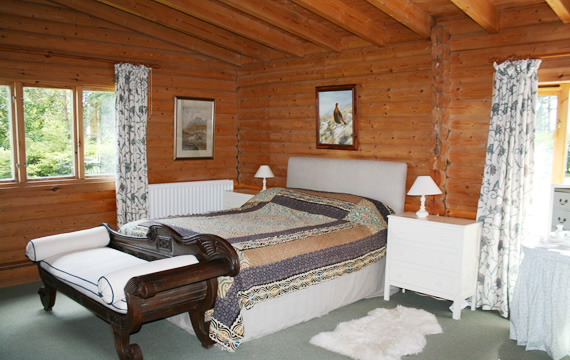 Another of the double rooms at The Log House